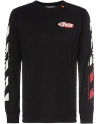 Off-White c/o Virgil Abloh - Logo Stripe T-shirt - Lyst