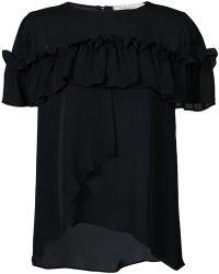 Nicole Miller - Frill Embellished Shirt - Lyst