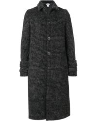 Hope - Checked Long Buttoned Coat - Lyst