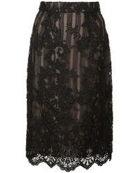 Marchesa - Lace Detail Skirt - Lyst