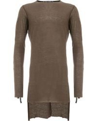 Cedric Jacquemyn - Long-sleeve Fitted Sweater - Lyst