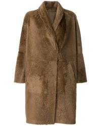 Sprung Freres - Oversized Mid-length Coat - Lyst