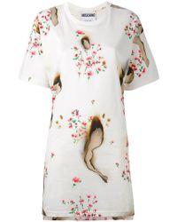 Moschino - Burned Effect T-shirt Dress - Lyst