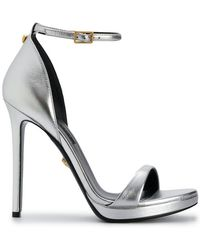 95fe51698 Versace - Metallic Open-toe Sandals - Lyst