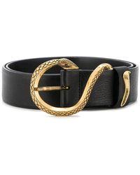 Just Cavalli - Snake Buckle Belt - Lyst