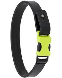 DIESEL - Side Press Buckle Bracelet - Lyst