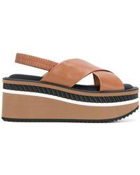 Clergerie - Crosse Platform Sandals - Lyst