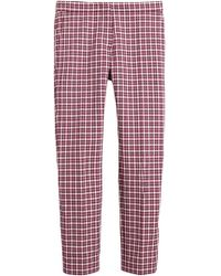 Burberry - Straight-fit Check Cotton Tailored Trousers - Lyst