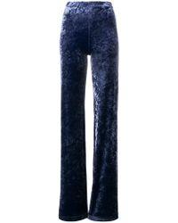 Plein Sud - Velvet Flare Trousers - Lyst