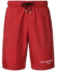Givenchy - Side Logo Swim Shorts - Lyst
