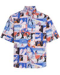 Prada - Comic Rope Print Shirt - Lyst