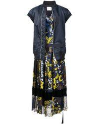 Sacai - Robe mi-longue à fleurs - Lyst