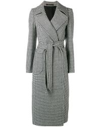 Tagliatore - Long Houndstooth Coat - Lyst