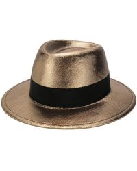 Saint Laurent - Metallic Trilby Hat - Lyst