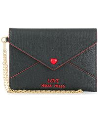 46ace98f0672 Miu Miu - Love Embroidered Envelope Pouch - Lyst