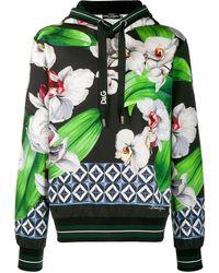 Dolce & Gabbana - Floral Print Hoodie - Lyst