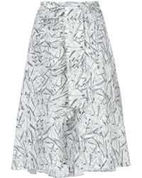 Chalayan - Flared Print Skirt - Lyst