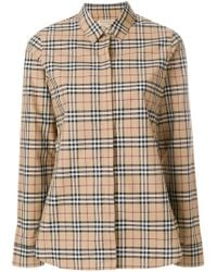 Burberry - Collared Button Front Shirt - Lyst