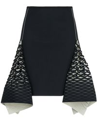 Dion Lee - Bias Perforated Mini Skirt - Lyst