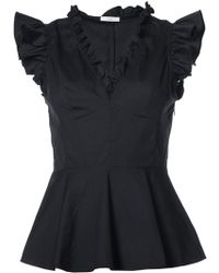 TOME - V-neck Top With Frills - Lyst