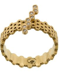 Savoir Joaillerie - 18kt Yellow Gold And Diamonds She Ring - Lyst