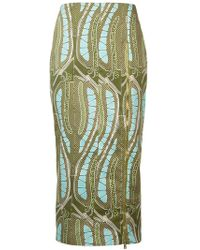 Sophie Theallet - Leaf Print Fitted Skirt - Lyst