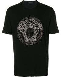 Versace - T-Shirt mit Medusa-Detail - Lyst