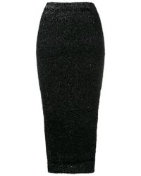 Versus - Textured Pencil Skirt - Lyst