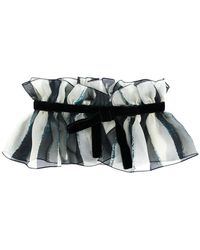 Alberta Ferretti - Striped Chiffon Bow Collar - Lyst