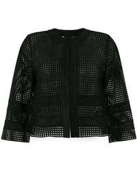 Blugirl Blumarine - Perforated Jacket - Lyst