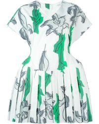 Julien David - Floral Print Pleated Skater Dress - Lyst