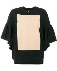Ioana Ciolacu - Sweatshirt With Ruffled Sleeves - Lyst