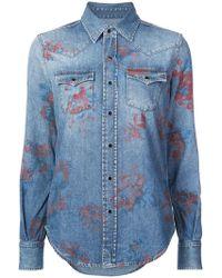 Saint Laurent - Rose Print Shirt - Lyst