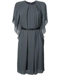 Vera Wang - Leather Belt Kimono Dress - Lyst