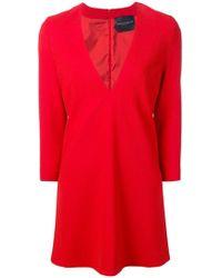 Erika Cavallini Semi Couture - Plunge Neck Mini Dress - Lyst