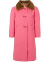 Prada - Button-down Fitted Coat - Lyst