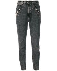 Diesel Black Gold - Geometric Detailed Skinny Jeans - Lyst