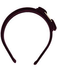 Ferragamo - Vara Bow Velvet Headband - Lyst