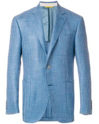 Canali - Gingham Fitted Blazer - Lyst