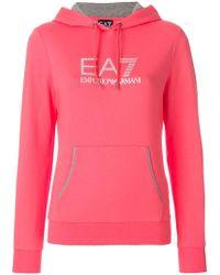 EA7   Logo Hoodie   Lyst