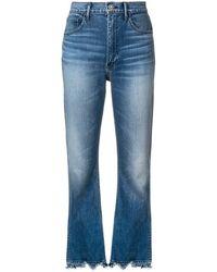3x1 Empire Crop Bell Jeans - Blue