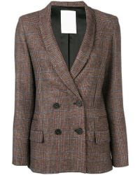 Pinko - Plaid Double Breasted Jacket - Lyst