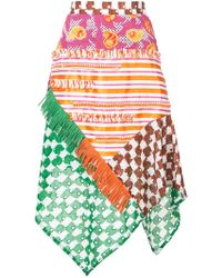 Tsumori Chisato - Printed Asymmetric Skirt - Lyst