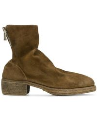 Guidi - Stacked Heel Boots - Lyst
