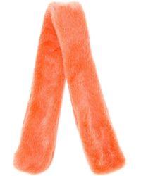The Gigi - Synthetic Fur Scarf - Lyst