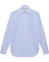 029bc32a4bb Gucci Plain Shirt in White for Men - Lyst