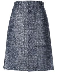 Julien David - Buttoned A-line Skirt - Lyst