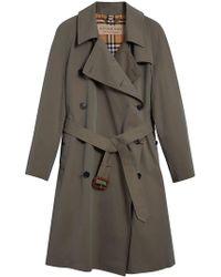 Burberry - Gabardine Trench Coat - Lyst