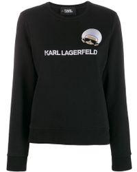 Karl Lagerfeld - K/ikonik Embroidered Sweatshirt - Lyst