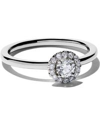 De Beers - Platinum My First Aura Solitaire Diamond Ring - Lyst